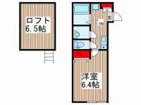 埼玉県川口市大字安行藤八の賃貸アパートの間取り