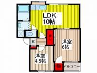 斉藤第2マンション[301号室]の間取り