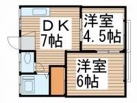 はづき荘[12号室]の間取り