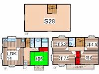 [テラスハウス] 埼玉県さいたま市中央区本町西3丁目 の賃貸【埼玉県 / さいたま市中央区】の間取り