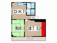 高麗川第一ビル[201号室]の間取り