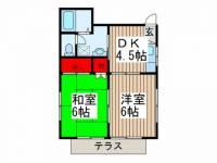 武藤コーポ[102号室]の間取り