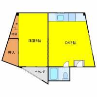 福島マンション[301号室]の間取り