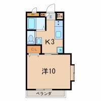 M-HOUSE[203号室]の間取り