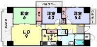 ライオンズステーションプラザ近江八幡[201号室]の間取り