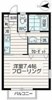 サクシードゥ[202号室]の間取り
