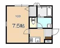TYC東松山[103号室]の間取り