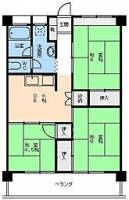 [一戸建] 愛媛県松山市小坂1丁目 の賃貸【愛媛県 / 松山市】の間取り