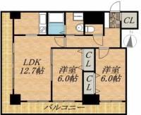 ティアラタワー中島倶楽部(Ⅰ−Ⅳ)[28階]の間取り