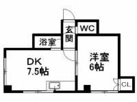 北海道札幌市中央区北二条東13丁目の賃貸マンションの間取り