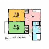 飯野ハイツA棟[2階]の間取り