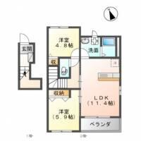小松市吉竹町アパート[201号室]の間取り