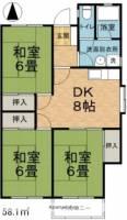 鎌倉ハイツ[102号室]の間取り