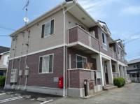 静岡県牧之原市勝俣の賃貸アパートの外観