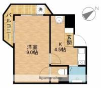 ライフ第3マンション細江[401号室]の間取り