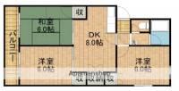 上島コーポB[401号室]の間取り