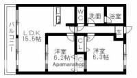 メルベーユ・シバ[2階]の間取り