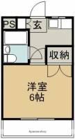 徳島県小松島市横須町の賃貸マンションの間取り