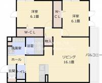 D-room田井中[201号室]の間取り