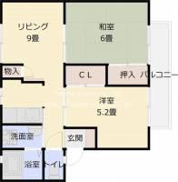 サンビレッジOKUNO D棟:サンビレッジオクノ D棟[202号室]の間取り