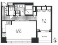 アパートメンツタワー麻布十番[16階]の間取り