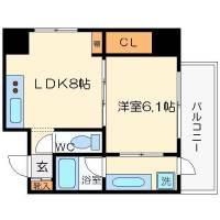 ファミール心斎橋EAST[4階]の間取り