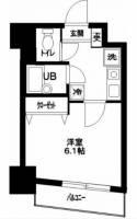 メインステージ蒲田Ⅱ[7階]の間取り