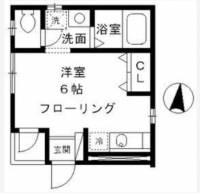 東京都大田区矢口2丁目の賃貸アパートの間取り