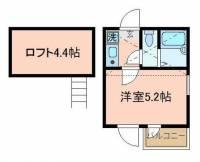 東京都大田区久が原5丁目の賃貸アパートの間取り