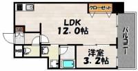 ウインステージ箱崎[4階]の間取り