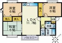 レインボーハウス青葉B[2階]の間取り