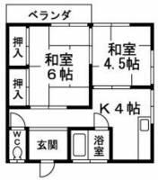月の浦荘[2階]の間取り