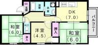 シャトレー奥須磨[2階]の間取り