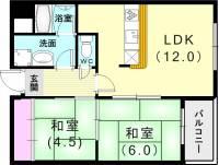 第2テルアキビル[2階]の間取り
