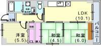 レノバール神戸[4階]の間取り