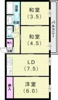 デコール岡本Ⅱ番館[2階]の間取り