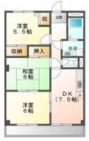 ラ・フォーレ松ノ下[1階]の間取り