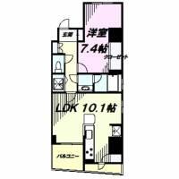 ライオンズマンション八王子シティ壱番館[2階]の間取り