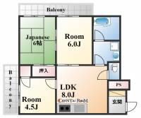 住吉リバーサイドマンション[103号室]の間取り