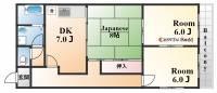 ニューグランド北野ハウス[3F号室]の間取り