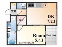 ワコーレ神戸北野セリュックス[5階]の間取り