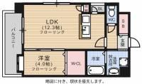 第11マルヤビル箱崎[2階]の間取り