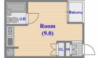 パシモントハウス[1階]の間取り