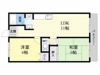 松井マンション[4階]の間取り
