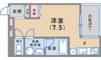 ソリューション甲子園[5階]の間取り