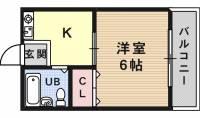 松ハイツ[1階]の間取り