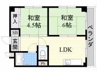廣田家マンション[3階]の間取り