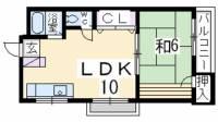 穂積マンション1号館[3階]の間取り