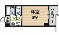 ドール津賀田[3階]の間取り