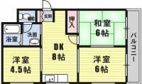 山元マンション[3階]の間取り